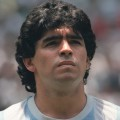 Portrait of Argentinian midfielder Diego Maradona